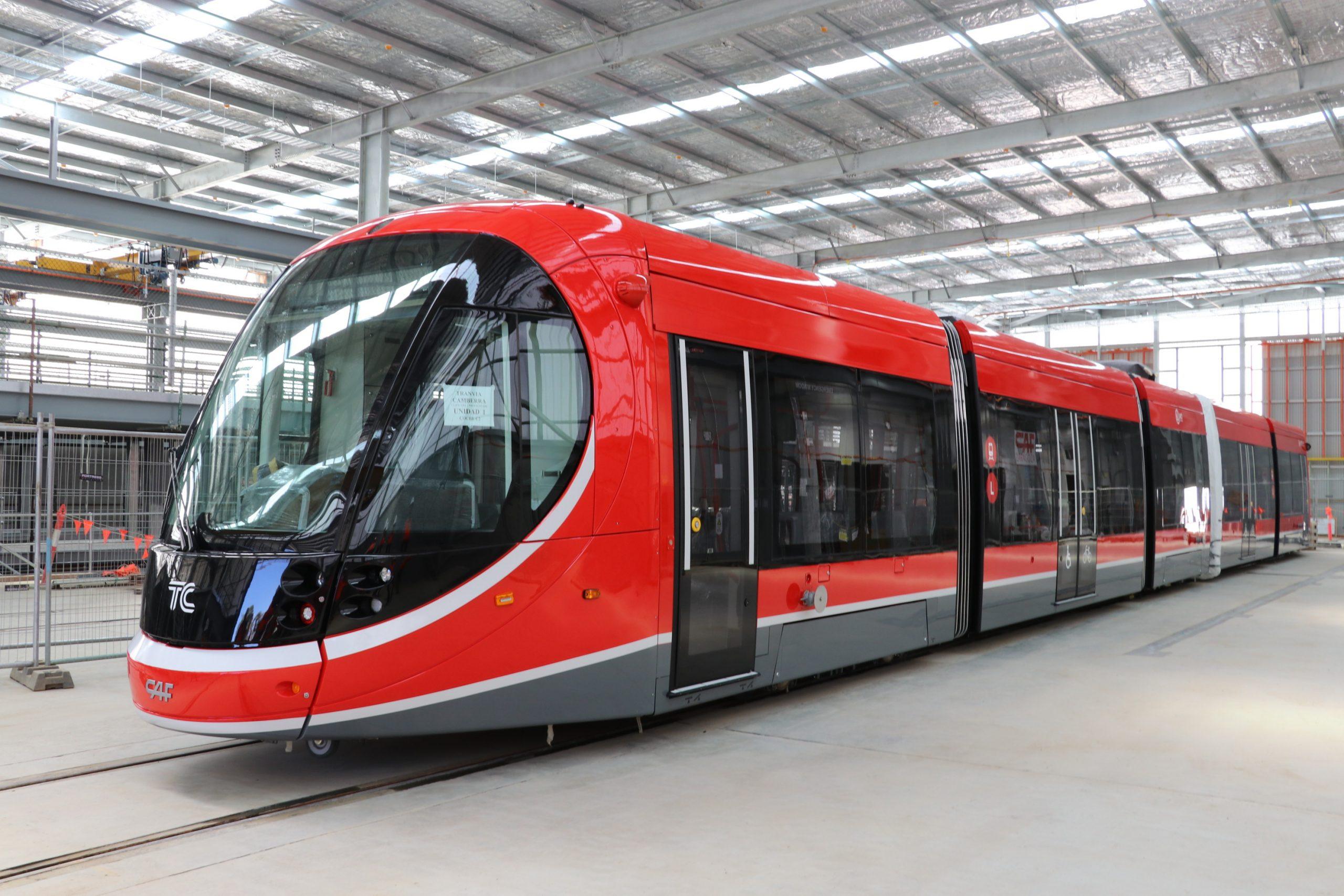 Canberra Light Rail Tram in Shed